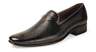 0a8bded56ee Bacca Bucci Men s Black Faux Leather Formal Shoes  Buy Online at Low ...