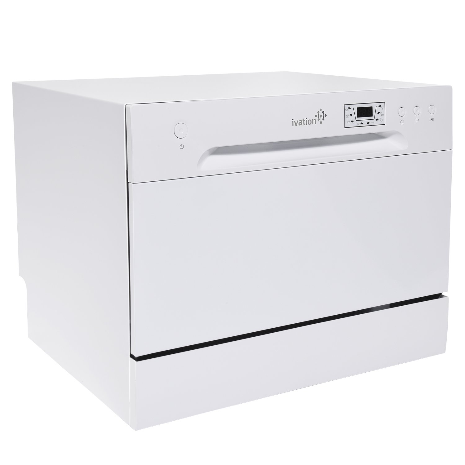 Ivation Countertop Dishwasher – Compact, Portable Stainless Steel Dishwasher for Apartment, Condo, RV, Office & Other Small Kitchens – 6 Place Setting Capacity – White by ivation