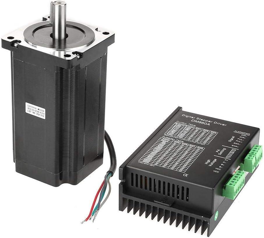 ZKS-KS DM860Aモータドライバ256microsteps、1個86HS156-6204A14-B34ステッピングモータドライバ