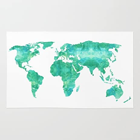 Amazon society6 watercolor world map rug 2 x 3 bysamantha society6 watercolor world map rug 2 gumiabroncs Image collections