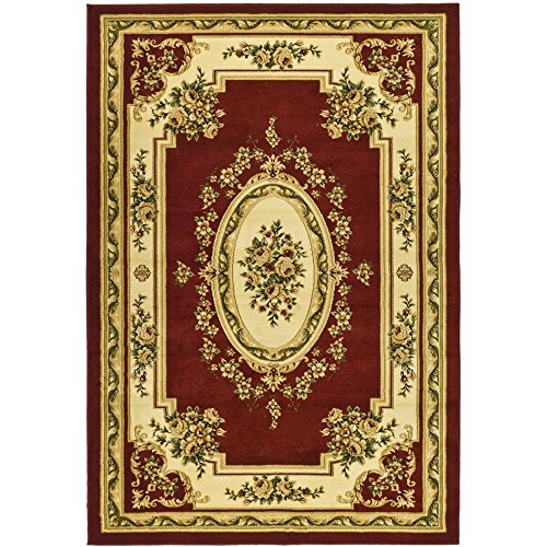 Safavieh Lyndhurst Collection LNH218C Traditional European Red and Ivory Area Rug (8' x 11')