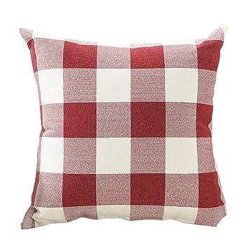 Amazon.com: Color rojo y blanco Navidad Buffalo Checkers ...