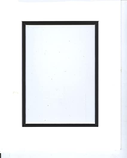 Amazon.com: 24x36 White & Black Double Picture Mats with White Core ...