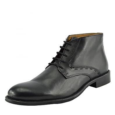 dbc8f7b9c4d6 Kick Footwear Men's Leather Desert Boots Smart Casual Brogue Ankle Shoes -  UK 7/EU
