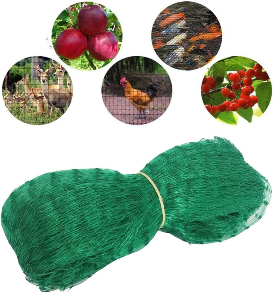 DEARLIVES Bird Netting, 13.2 x 20 Feet Green Fruit Tree Netting for Squirrels, Birds, Animals and Garden Pests, Plants Protection Netting Cover