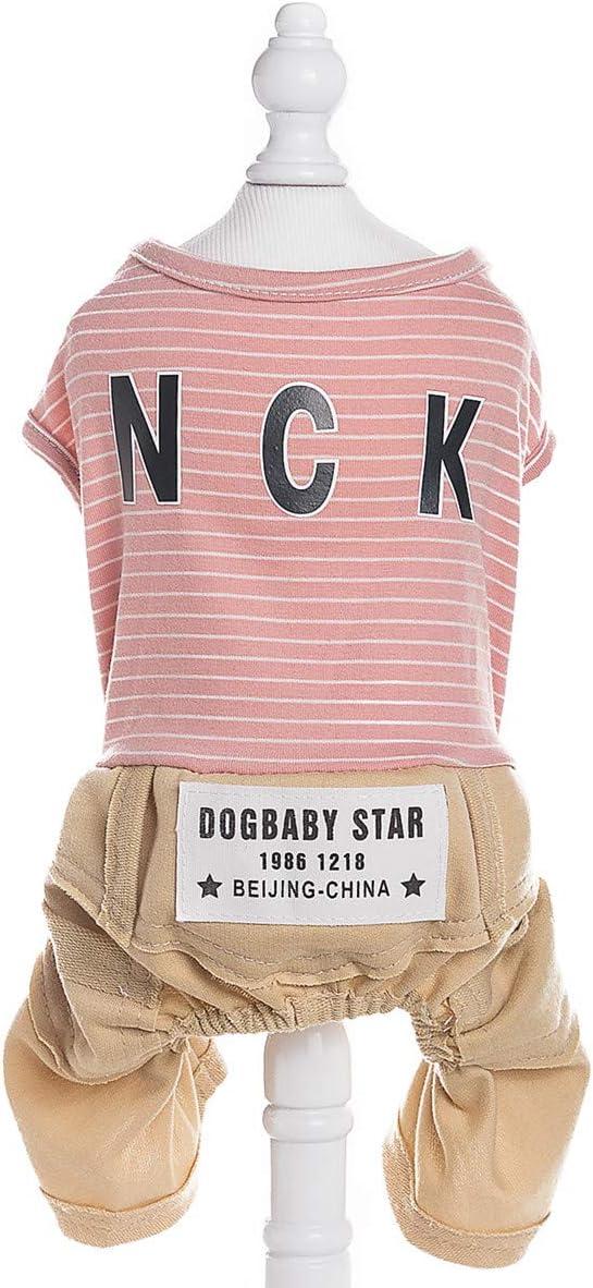 Gewicht 1.2-9.0 KG| Pet Heroic Haustier Niedlicher Hunde Jumpsuit Kleider Klamotten Welpen Pyjama Klamotten Pink Blau Gelb Gestreift Nur F/ür Kleine Hunde Katzen Welpen