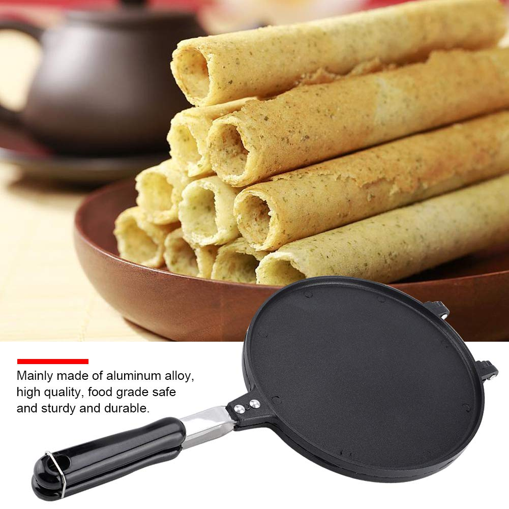 Egg Roll Waffle Making Pan, Household Kitchen Gas Non-Stick Egg Roll Waffle Cone Maker Pan Mold Press Plate Baking Tool by Taidda (Image #1)