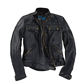 Chaqueta Moto Darley Belstaff Mujer de Piel Color Negro 46 ...