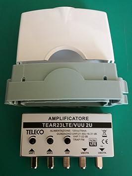 Amplificador para antena TV 2 entradas UHF 31 dB 1 entrada ...