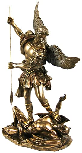 St. Michael Statue Cold Cast Bronze 10 Inch