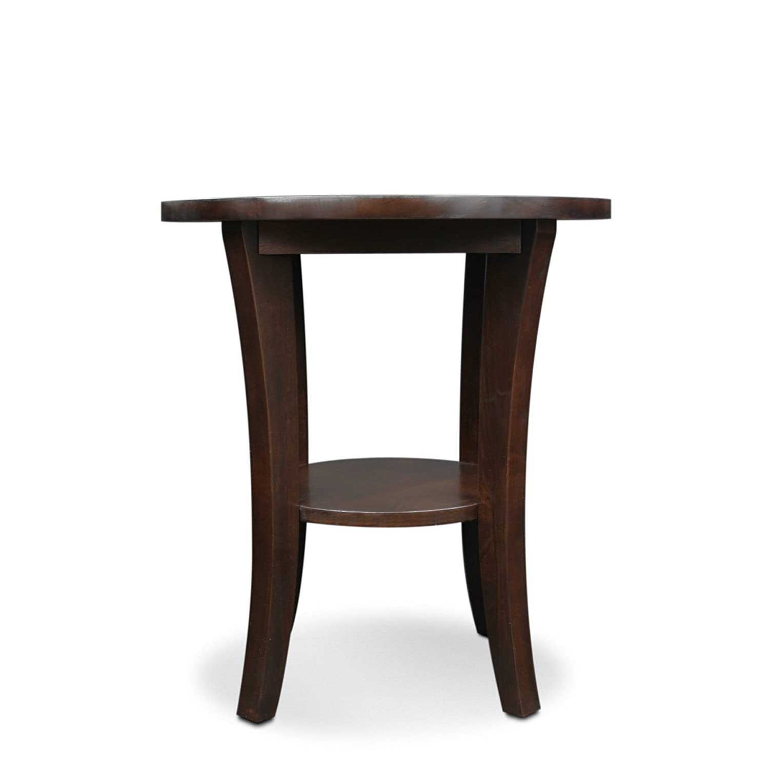 amazon com leick furniture boa collection solid wood round side