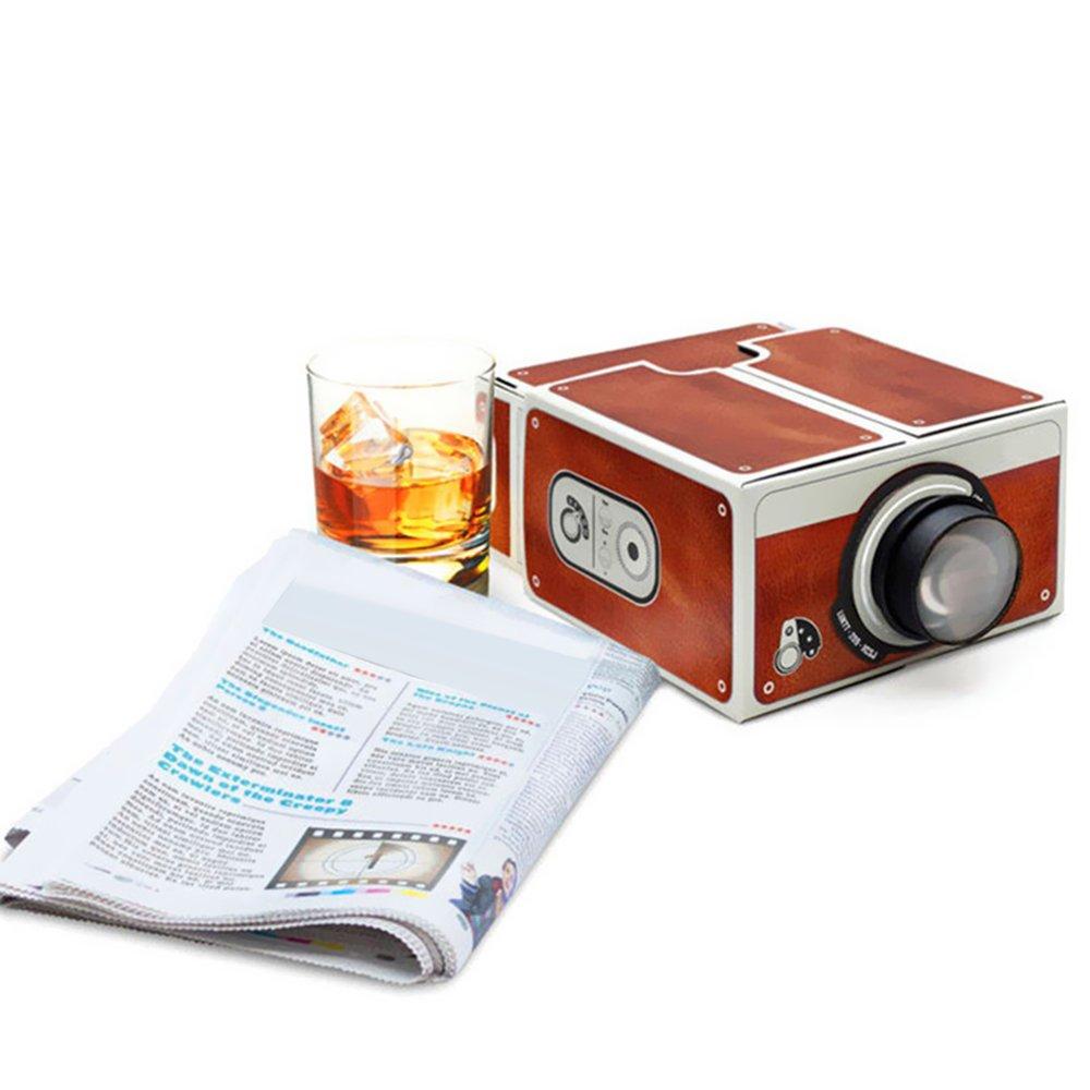 Mini proiettore per Smartphone proiettore in cartone Cinema portatile per l/'intrattenimento familiare docooler per uso domestico proiettore fai-da-te