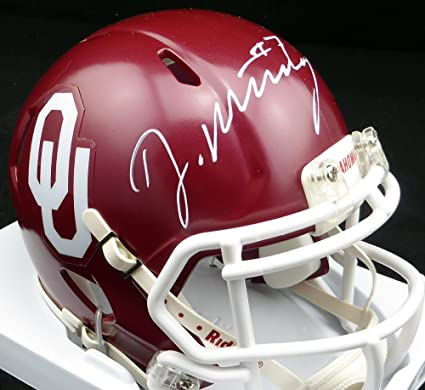 2918ba637 Image Unavailable. Image not available for. Color  DeMarco Murray Autographed  Oklahoma Sooners Mini Helmet - Beckett COA