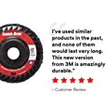 """Scotch-Brite Clean and Strip XT Pro Disc - Rust and Paint Stripping Disc - 4.5"""" diam. x 7/8"""" Arbor Hole - Extra Coarse Silicon Carbide - Pack of 10"""