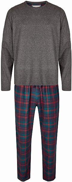 Phil /& Co Berlin weiche Herren jersey Pyjamahose Hose Homewear kariert blau rot