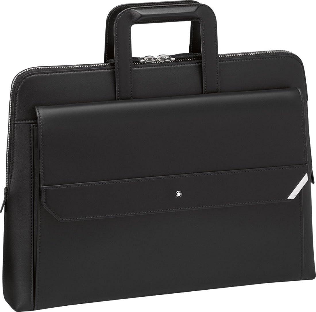 モンブラン ビジネスバッグ ブラック 本革 Urban Spirit Document Case MB114656 新品 [並行輸入品] B07B297QFT