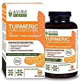 Avira Organic Turmeric Curcumin with Bioperine, Max strength - 2100 mg Daily Serving, Non GMO & MADE WITH ORGANIC Turmeric Curcumin with AML5HS Amla, SUPER VALUE Pack - 180 Capsules, for Joint Support