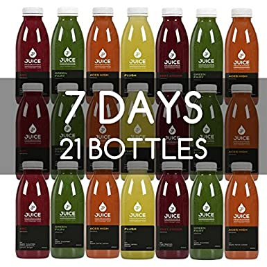 Juice Programmes | 7 Day Cleansing Fresh Fruit and Vegetable Based Smooth Juice  Detox | Complements