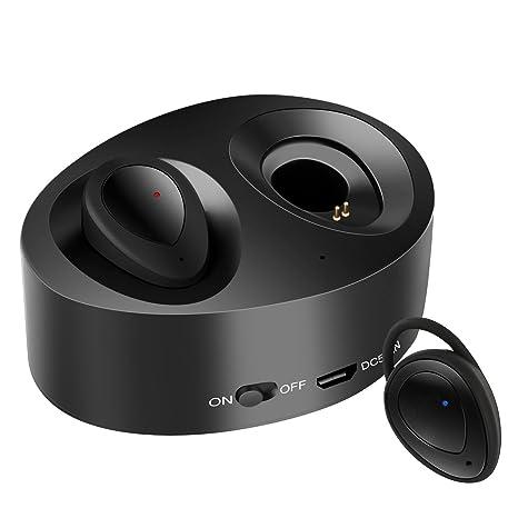 Auriculares inalámbricos reales, WiFun TWS Bluetooth auriculares auriculares de deportes con caja de carga portátil