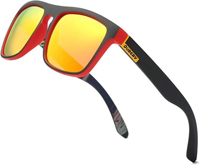 DUBERY Classic Polarized Sunglasses for Men Women Retro 100% UV Protection Driving Sun Glasses