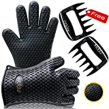Barbecue Gloves & Pulled Pork Claws Set - Silicone Heat Resistant Grilling Accessories & Home Kitchen Tools For Your Indoor & Outdoor Cooking Needs - Use as BBQ Meat Turner or Oven Mitts