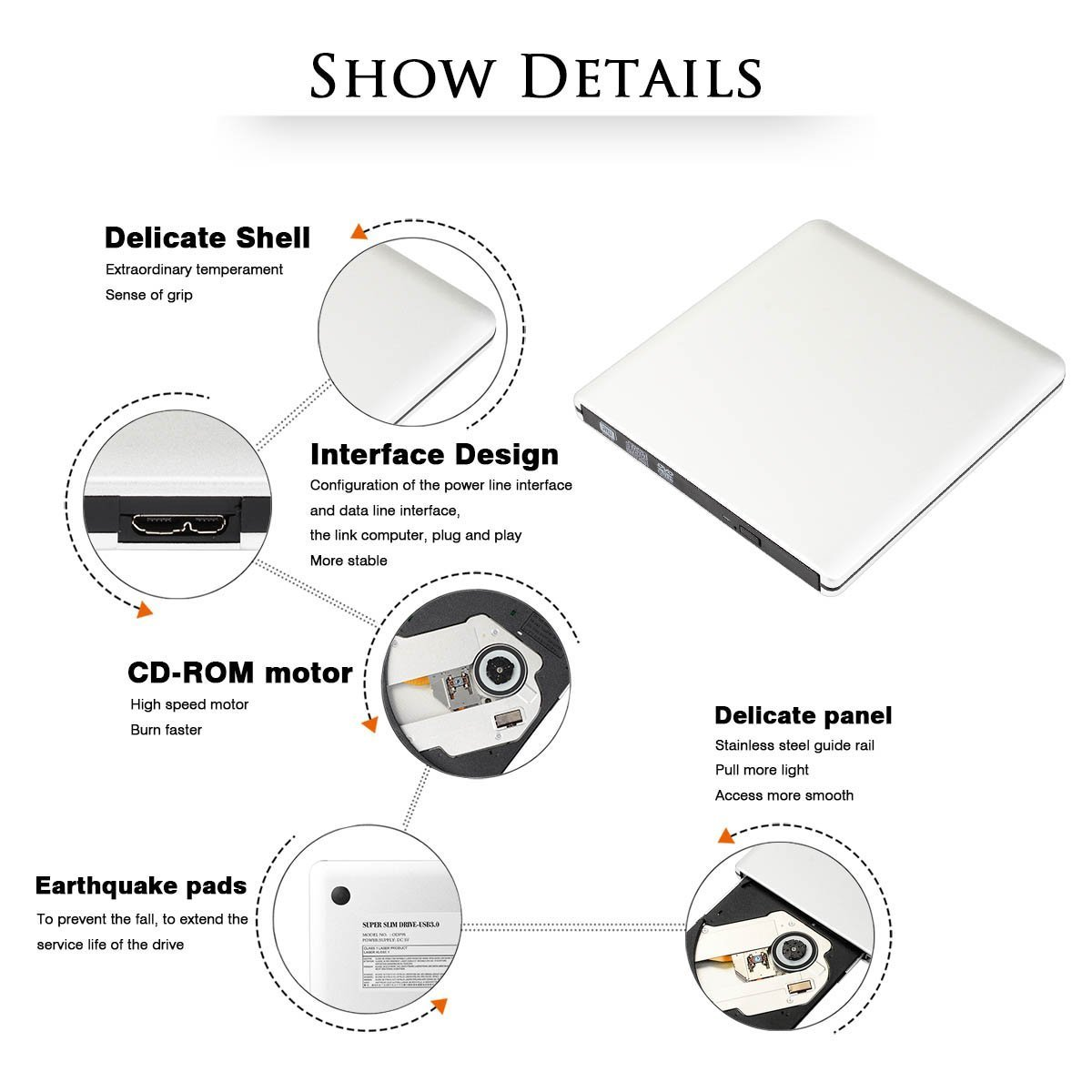 External Cd Dvd Drive Blingco Usb30 Ultra Slim Schematic Of Current Power Supply For Double Laser From Dvdrw Burner Portable Rewriter Burnerexternal Optical Rw Superdrive