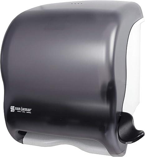 San Jamar T950tbk Element Lever Roll Towel Dispenser Classic Transparent Black Pearl Industrial Scientific