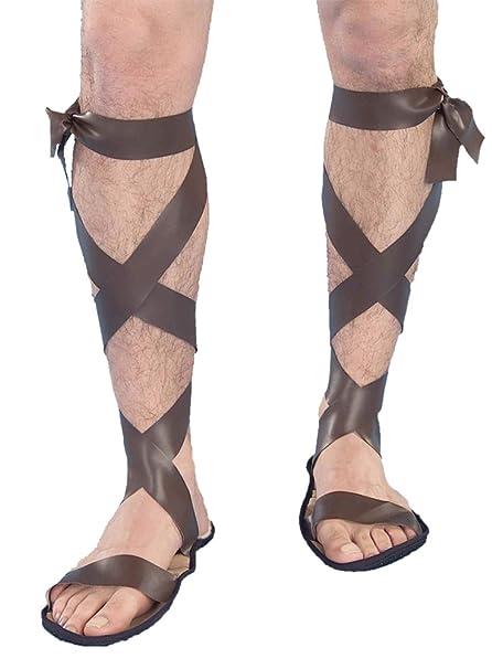 aeb3b3813173a Amazon.com  Roman Adult Sandals 9-12 Halloween Costume - 9-10  Clothing