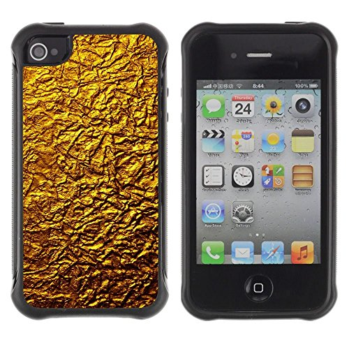 iPhone 4 / iPhone 4S , Golden Wall Design Architecture Material Art