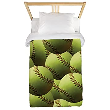 Amazoncom Cafepress Softball Wallpaper Twin Duvet Twin Duvet