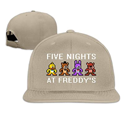 AAWODE Unisex Five Nights At Freddy's Game Plain Adjustable Snapback Hats Caps