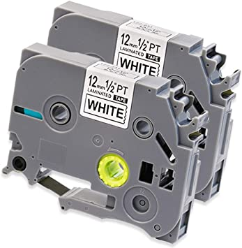 5 PK TZ335 TZe335 White on Black Label Tape 12mm for Brother P-Touch Label Maker