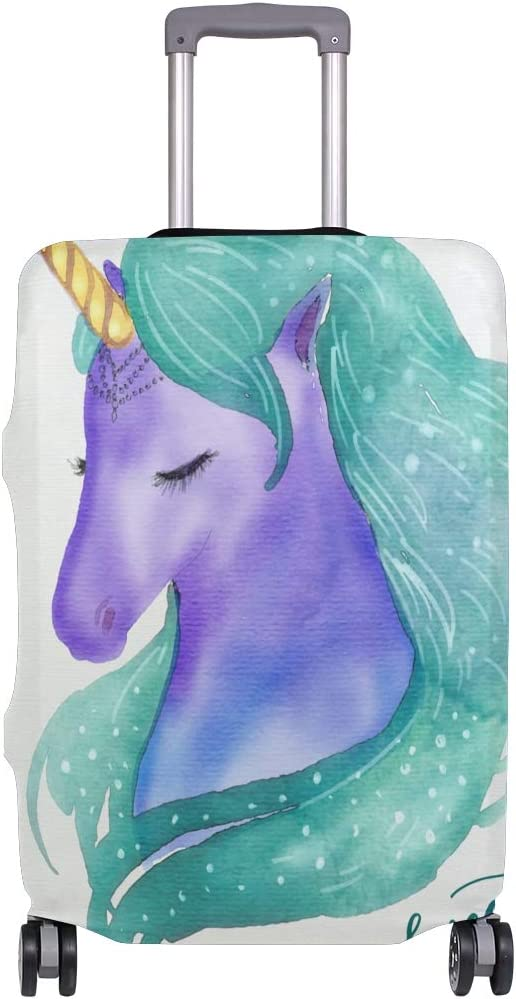 FOLPPLY Cute Unicorn Sweet Dream Luggage Cover Baggage Suitcase Travel Protector Fit for 18-32 Inch