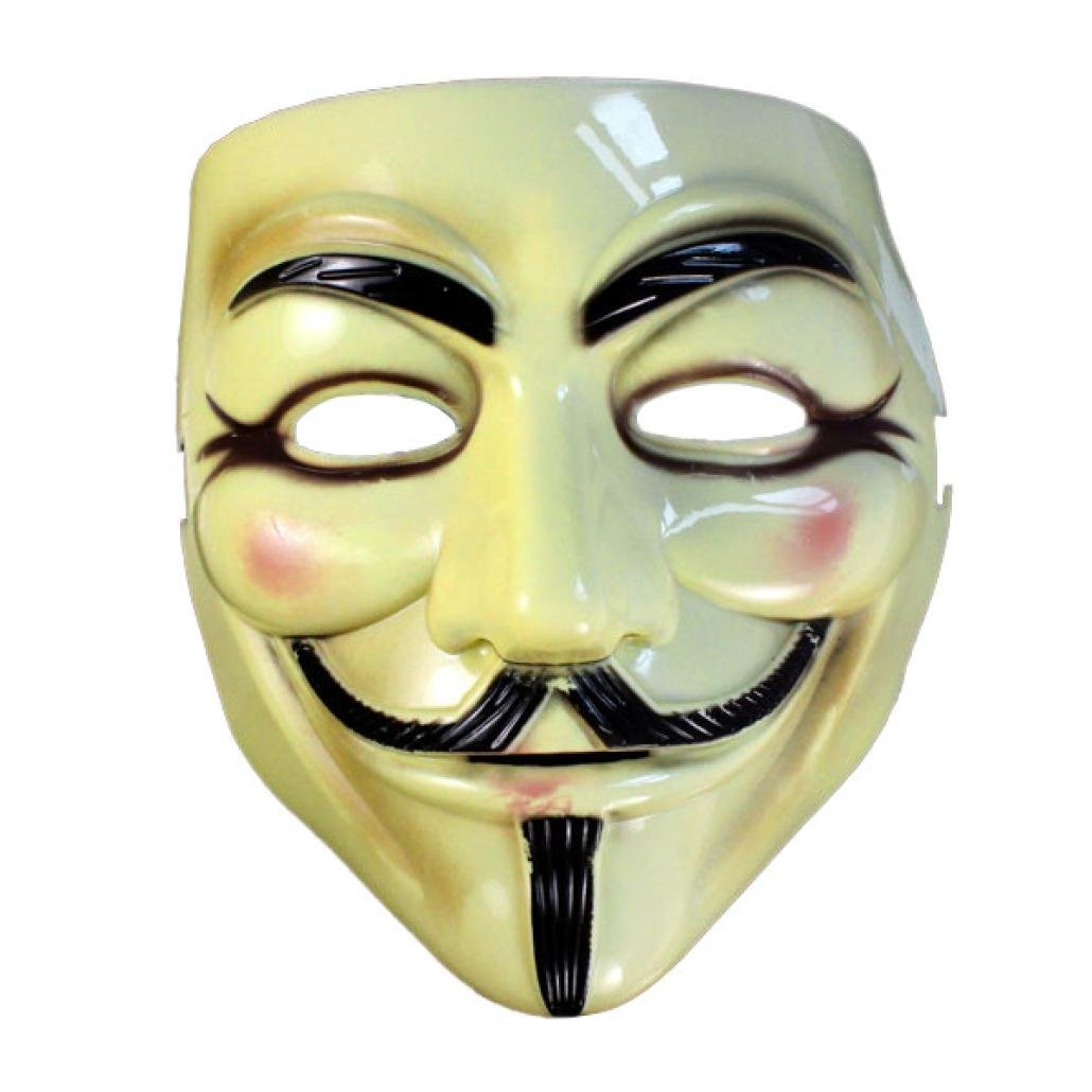 Gbell Cool Face Mask Guy Fawkes Mask Perfect for Vendetta DC Comics Parties, Events, Anonymous Gatherings (Yellow)