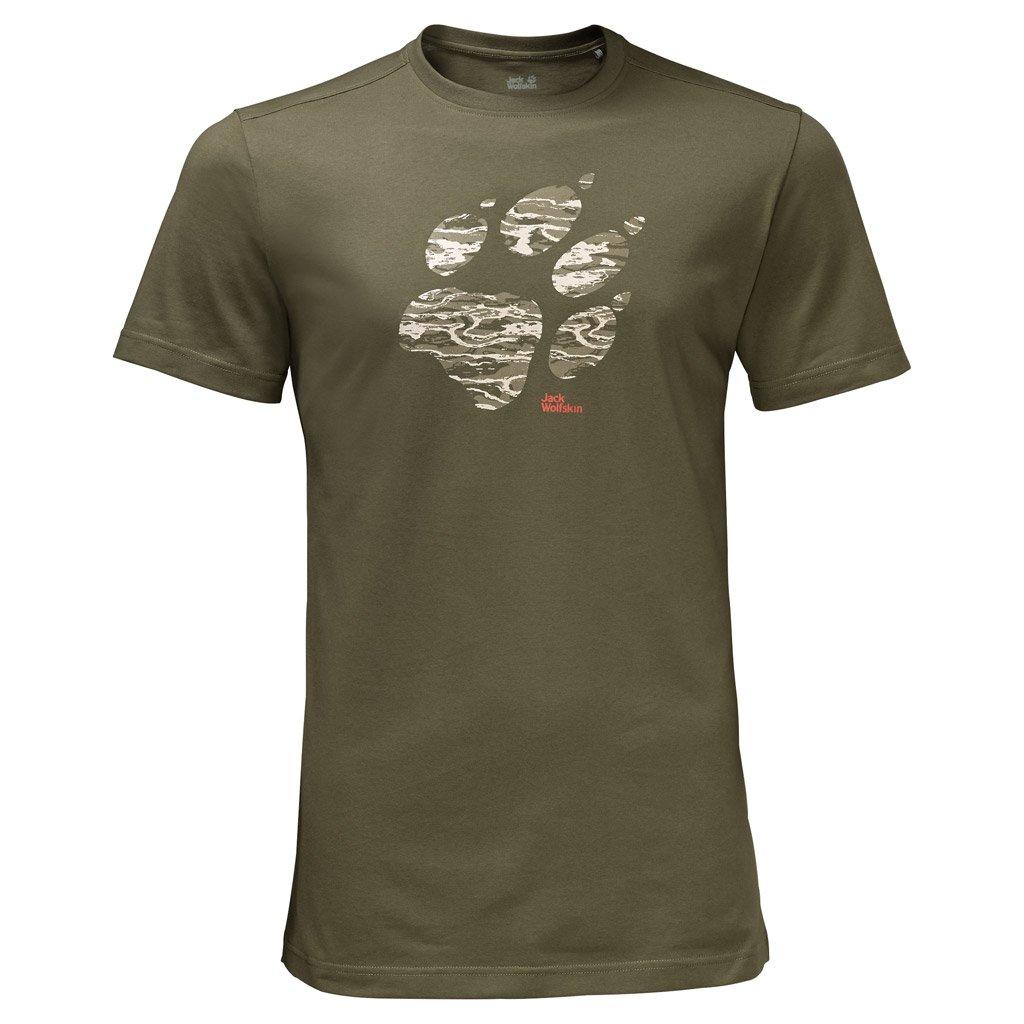 Jack Wolfskin Jack Wolfskin Hombres Laguna Paw camiseta, Burnt Olive, 3X-Large 1805771