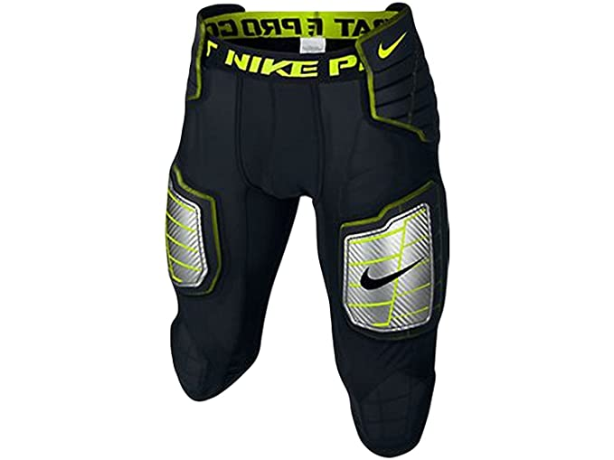 8a5087397b0 Nike Men s Hyperstrong Compression Hard Plate Football Pant Black Volt Size  Medium