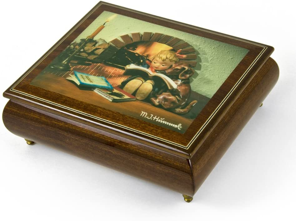 Handcrafted Italian Ercolano Musical Jewelry Box - Many Songs to Choose - Proud Moments by MI Hummel Hark! The Herald Angels Sing