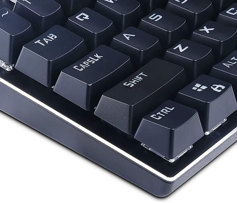 XBFCDMT Xueba Juego de 81 teclas, teclado mecánico, luz y ...