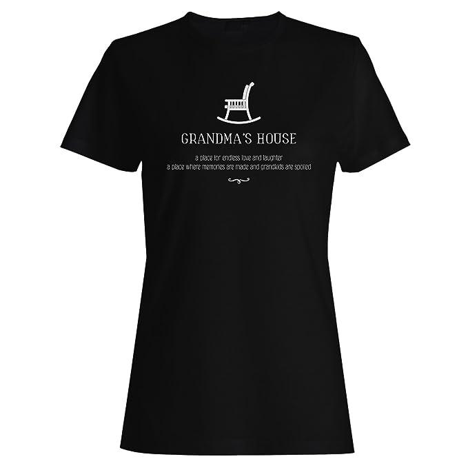 Casa De La Abuela Un Lugar Para El Amor Sin Fin Y La Risa camiseta de las mujeres j878f: Amazon.es: Ropa y accesorios