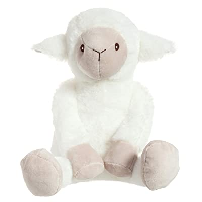 Apricot Lamb Toys Plush Lamb Stuffed Sheep Stuffed Fuzzy Baby Lamb Perfect for Girls Boys Newborn Baby (White Lamb, 14 Inches): Toys & Games