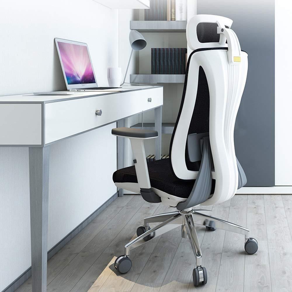 Barstolar Xiuyun kontorsstol spelstol, ergonomisk design justerbar sitthöjd, lutningsmekanism, 360 graders vridning, 3 färger tillgänglig svängbar stol (färg: Stil2) stil2