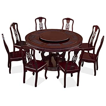 Amazon.com - China Furniture Online Rosewood Round Dining Table Set ...