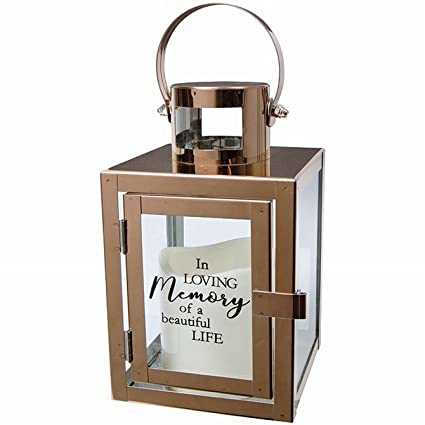 Dont Miss Gentle Beauty Of Lanterns For >> Amazon Com Sympathy Candle Lantern Gifts With Message And Flameless