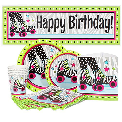 Birthday Direct Retro Roller Skate Party Package for 16 Guests -
