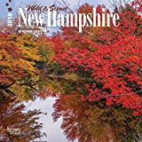 New Hampshire, Wild & Scenic 2018 7 x 7 Inch Monthly Mini Wall Calendar, USA United States of America Northeast State Nature