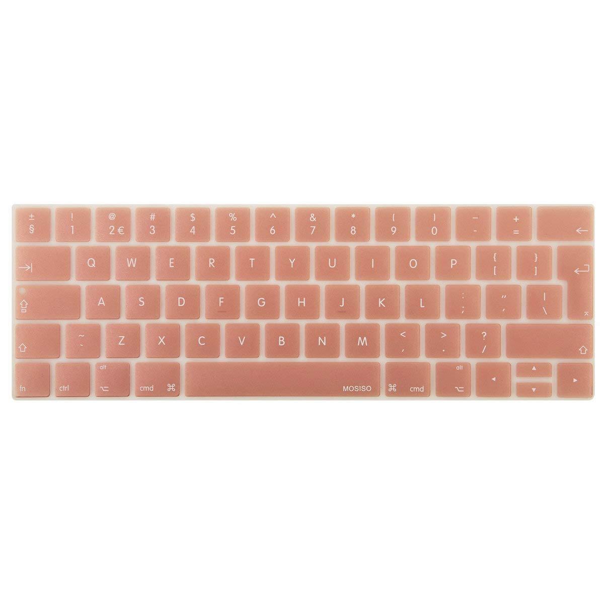 MOSISO Protection Clavier MacBook Pro Touch Bar 13' 15' A1989/A1706 et A1990/A1707 2018/2017/2016 Libé ration, Keyboard Cover(Disposition EU), Clavier QWERTY, Noir EU-KC-NEW-MBP15-Black