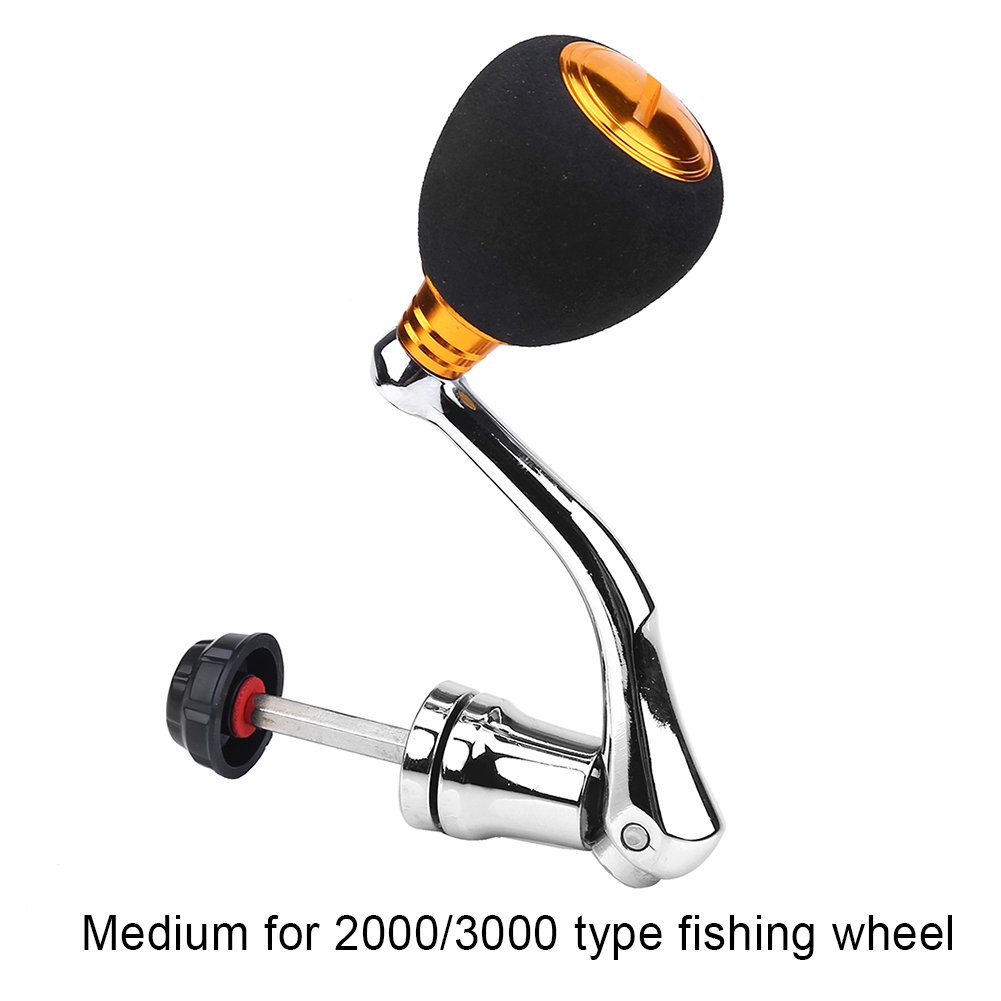 DEUKIO Manija del carrete de pesca Rocker Arm Grip for Spinning Fishing Reel Baitcasting Handle Replacements for series 2000/3000/ 4000/5000/ 6000 for ...