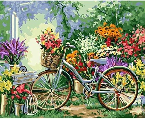 Kit de lienzo Bicicleta y campo para Pintura por Números, pinturas ...
