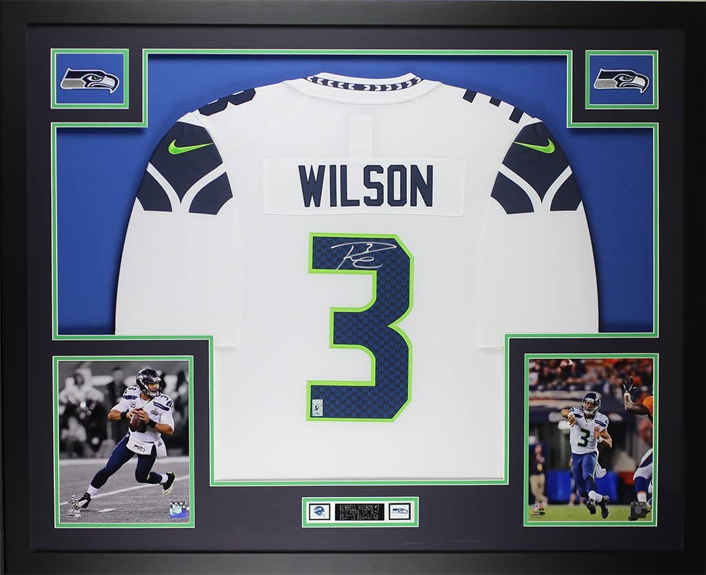 Amazon.com: Russell Wilson Autographed White Seahawks Jersey ...