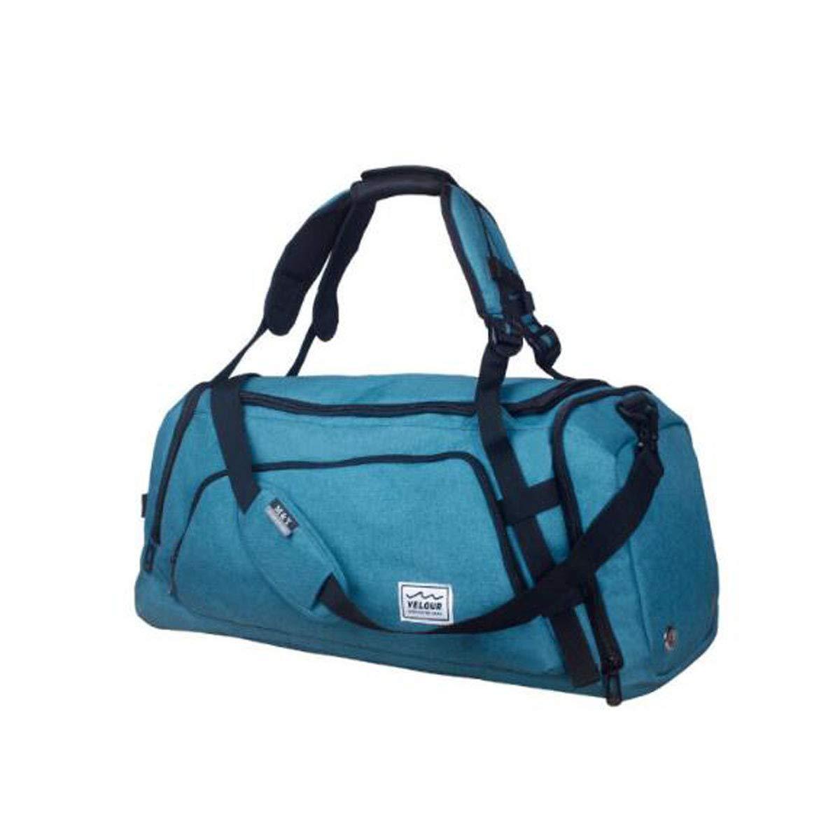 Jinnuotong スポーツバッグ 旅行用 大容量 ショルダーバッグ 男女兼用 防水 トラベルバッグ Lサイズ 57/26/28cm とても美しい B07RLYWW9Z ブルー 22.8*10.4*11.2 inch.